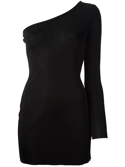 Balmain one shoulder dress