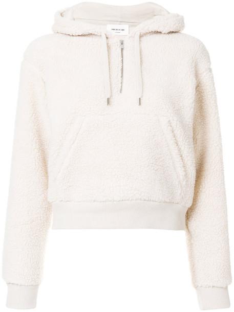 hoodie women nude cotton sweater