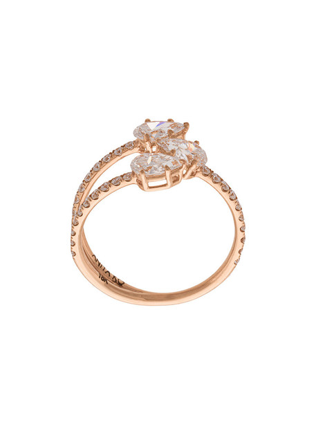 Anita Ko rose gold rose women ring gold grey metallic jewels