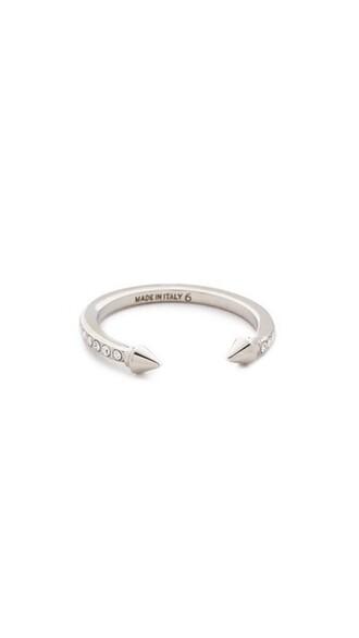 mini clear ring silver jewels