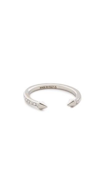 Vita Fede Super Ultra Mini Titan Crystal Ring - Silver/Clear