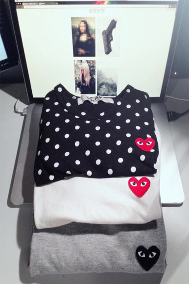 black casual sweater white logo dot dots grey autumn winter sweater autumn, winter