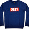 Sweatshirts - obey the box crew denim | ranshop.co.uk