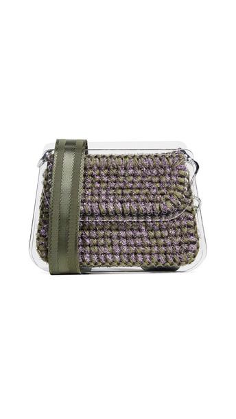 clutch khaki violet bag