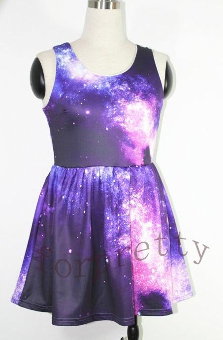 Robe imprimé galaxy galaxie dress