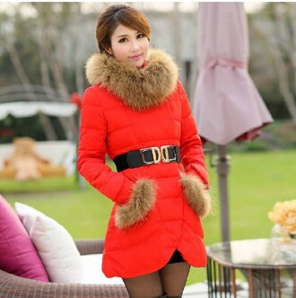 red coat beautiful coat fashion coat warm coat cheap coat down wear woman female down jacket fashion feather clothing fashion down jacket winter coat for women winter dress down jacket