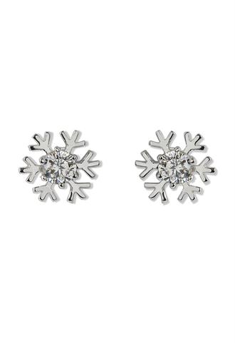 jewels snowflake crystal earrings