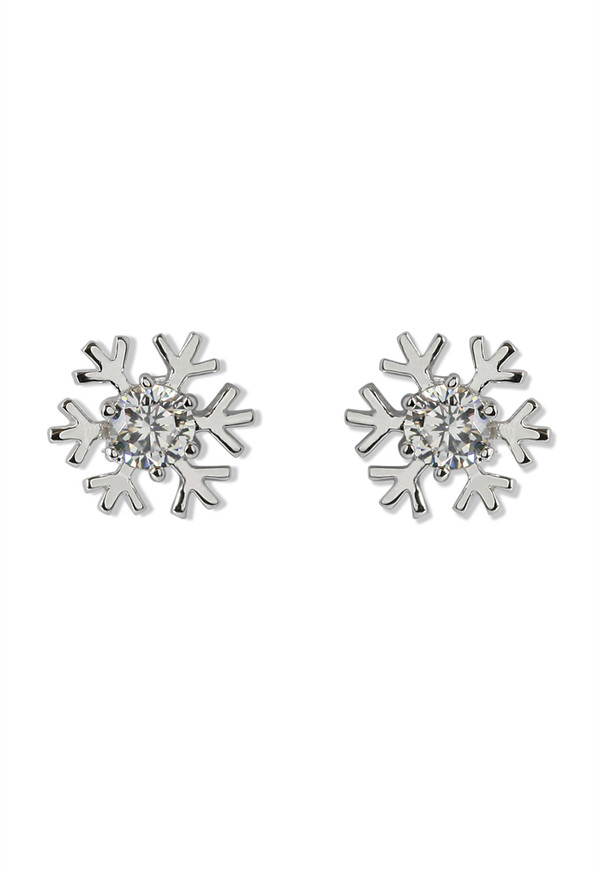 jewels snowflake crystal earrings