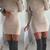 Women Long Sleeve Off Shoulder Bodycon Dress