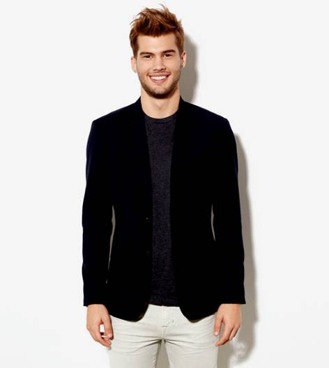 AE Wool Blazer , Fleet Navy | American Eagle Outfitters