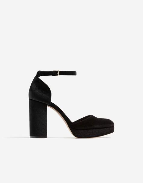 Stradivarius heel high heel high shoes black