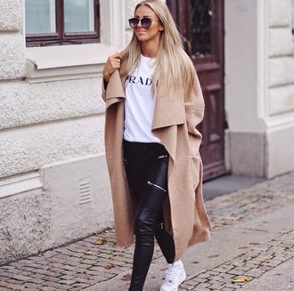 jacket long oversized trend girly hipster elegant outfit sunglasses