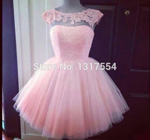 New Light Pink Short Prom Dresses Delicate Pleasant Comepany Party ...