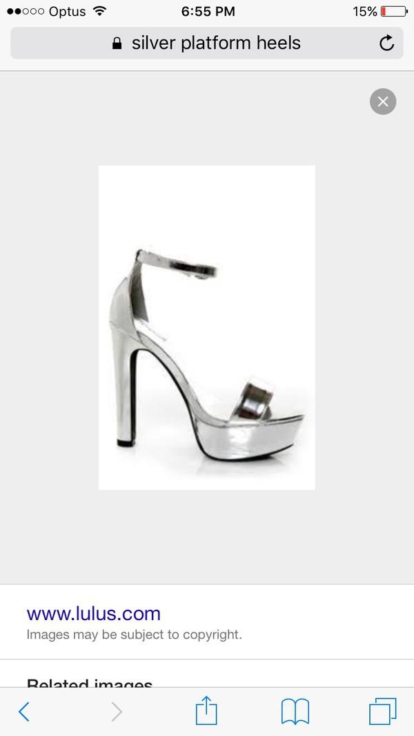 0d6f0e3ec29 Qupid Drama 103 Silver Metallic Platform Heels