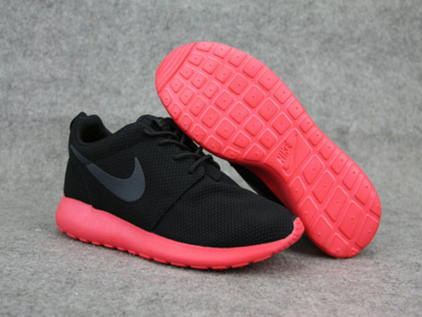 premium selection 14475 1cecc ... pink red  womens nike roshe run triangle coral .