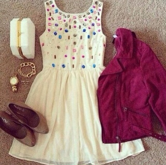 dress sequin shoes jacket embellished dress white dress skater dress