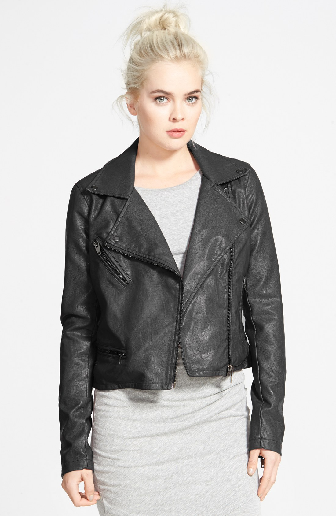 Quilted Faux Leather Moto Jacket | Nordstrom : quilted pleather jacket - Adamdwight.com