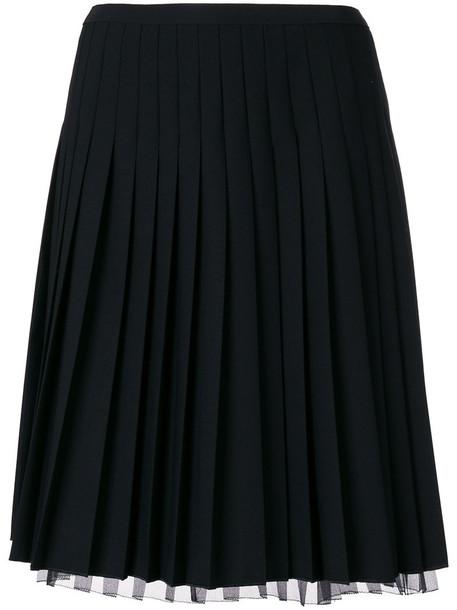 skirt pleated skirt pleated short women spandex black silk wool