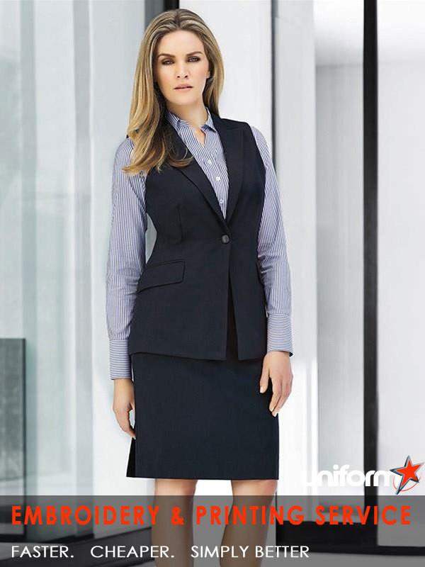 09766b853fb01 Biz Corporates Cool Stretch   Ladies Longline Sleeveless Jacket ...