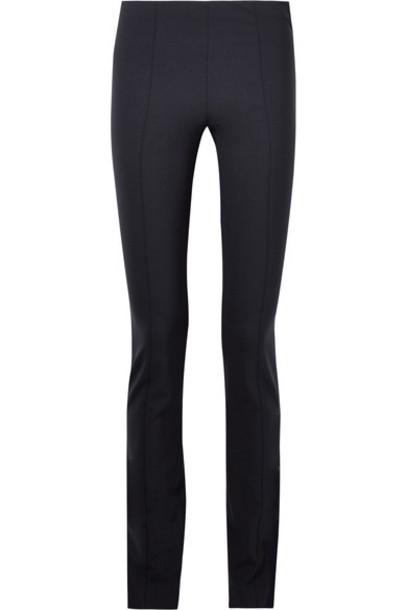 The Row pants skinny pants blue wool