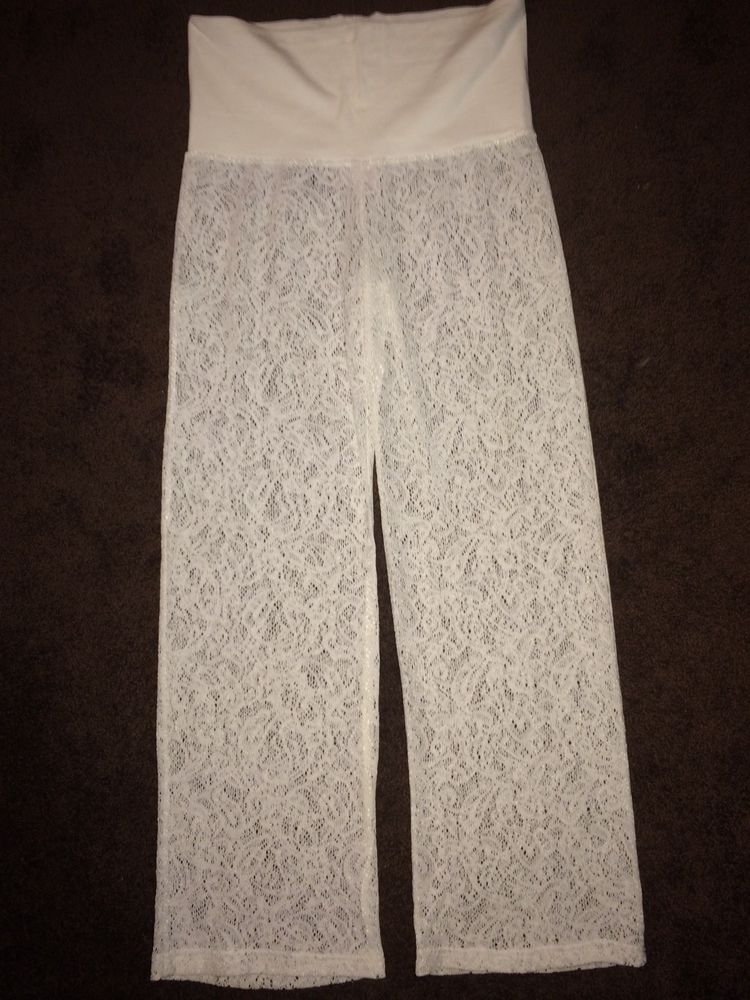 Xhilartion by target crochet coverup beach pant size m