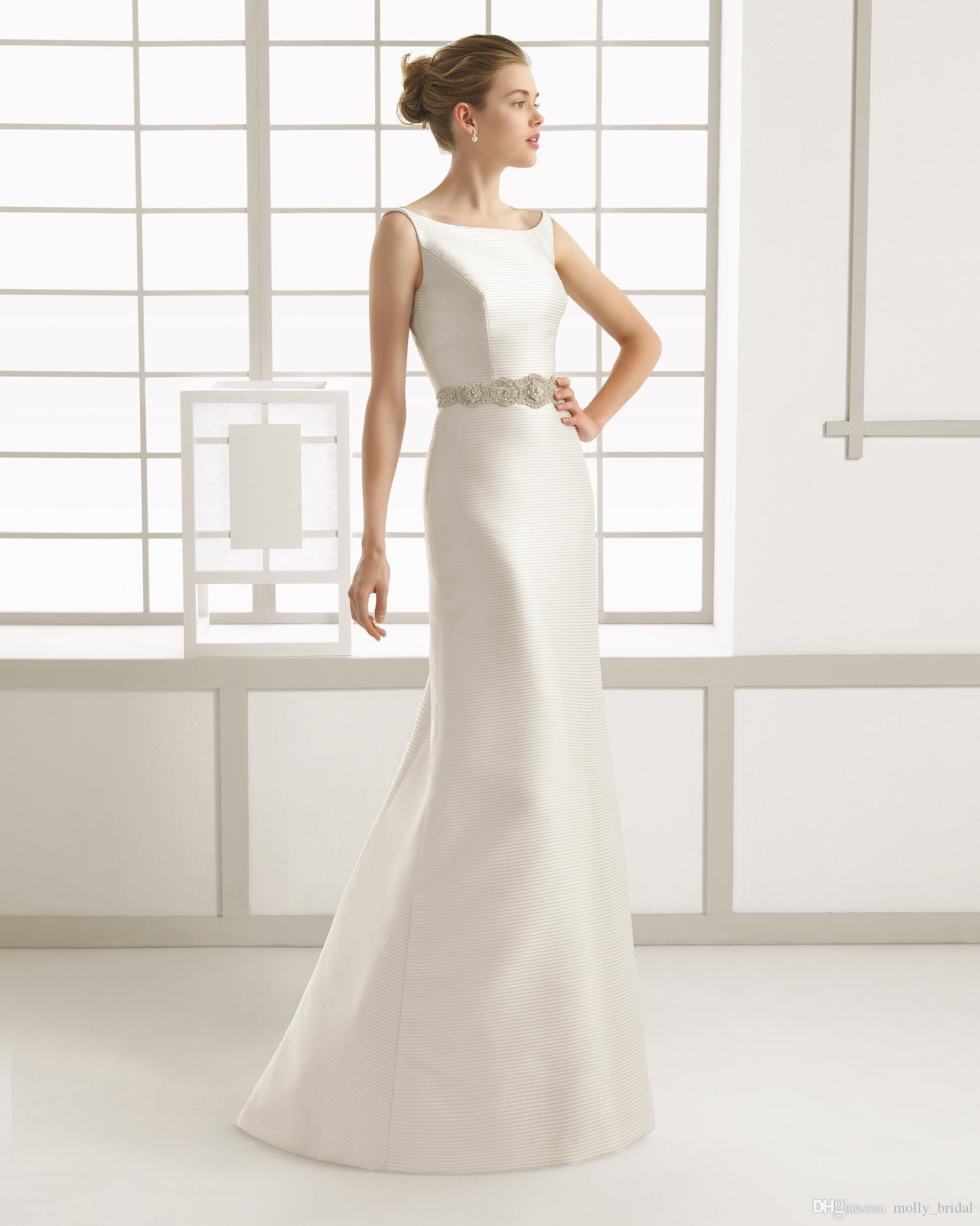 Designer detachable rose clara wedding dresses 2016 bateau for Open back bow wedding dress