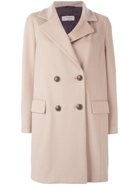Alberto Biani coat double breasted women nude wool