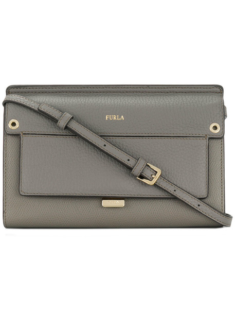 Furla mini women bag leather grey