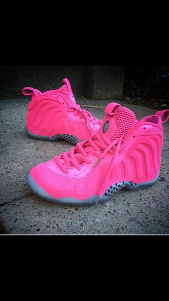 1b2471f3bf096 shoes pink nike foamposites high top sneakers pink sneakers nike