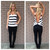 Black Stripe Knot Back Knit Top                           | Dainty Hooligan Boutique