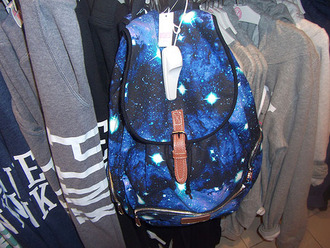 bag galaxy print diamonds stars backpack urban style fashion atmosphere purple black