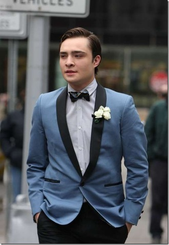 jacket cool fancy prom nice dance date retro gossip girl chuck bass blue jacket bag