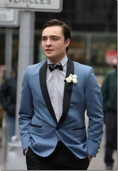 gossip girl chuck bass jacket cool fancy prom nice dance date awesome retro blue jacket