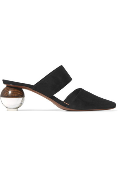 Neous mules suede black shoes