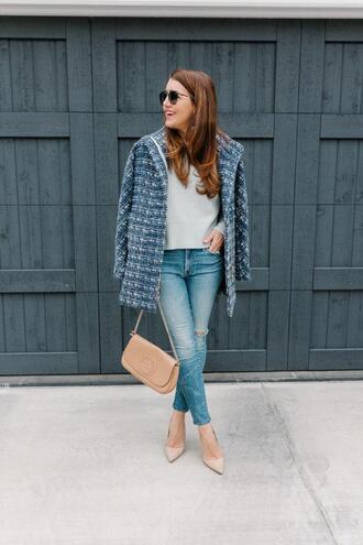 dallas wardrobe // fashion & lifestyle blog // dallas - fashion & lifestyle blog blogger sweater jewels jeans sunglasses shoes jacket bag gucci bag blue coat spring outfits