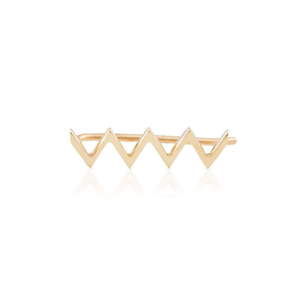 Zig zag earring – smith   mara