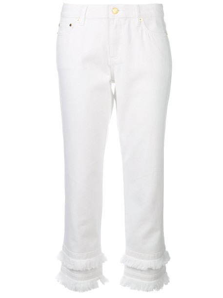 MICHAEL Michael Kors cropped women white cotton pants