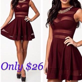 dress burgundy dress cut-out dress fashion date night top date night skirt