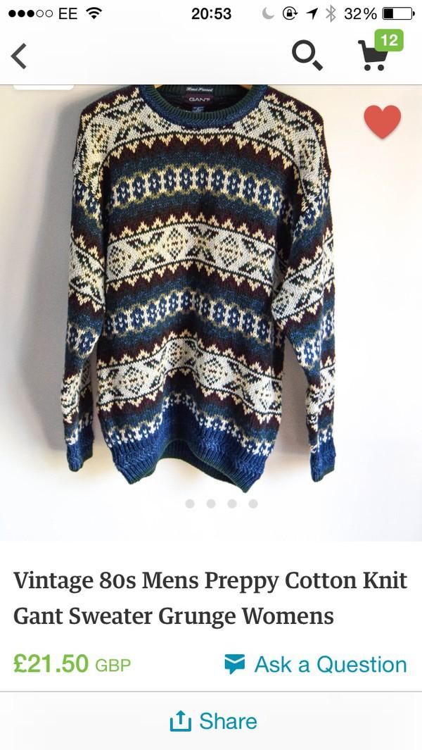 vintage jumper grunge sweater jumper vintage