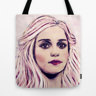 bag daenerys targaryen game of thrones mother of dragons khaleesi tote bag pop art