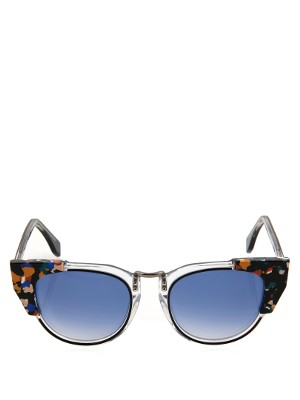 Marble-print cat-eye sunglasses | Fendi | MATCHESFASHION.COM US