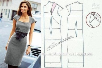 dress grey dress black bow midi dress