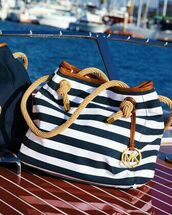 bag,blue,white,michael kors,gold,beach,sea,sommer,sun,great,michael kors bag
