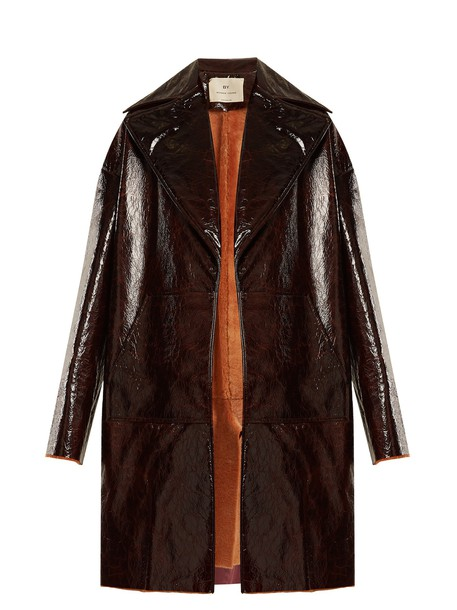 By. Bonnie Young coat burgundy