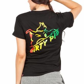 rasta black t-shirt