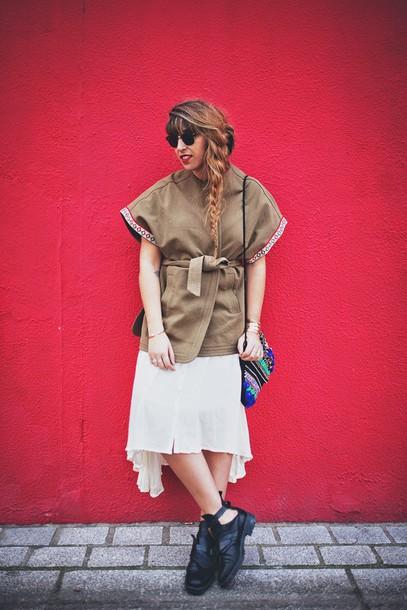 fringe and frange blogger jacket dress bag shoes