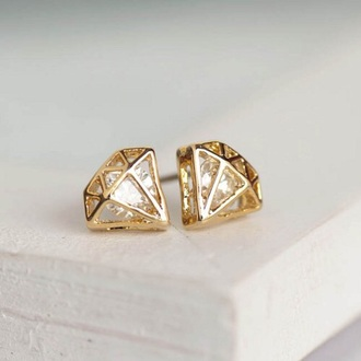 jewels diamonds earrings gold