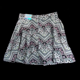 skirt victorias secret pink vs tribal white yellow back aztec tribe dress short high waisted tribal skirt