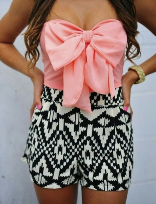 blouse bow pink