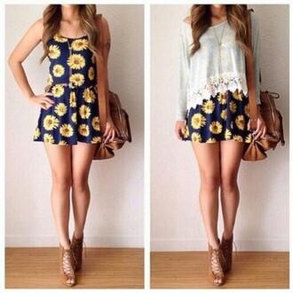 dress clothes sunflower